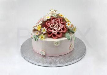 "CAKE BOARD 12""-SILVER(เงินกลม)"