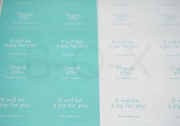 สติ๊กเกอร์ตกแต่ง Thank you สีฟ้า-ขาว