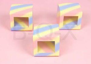 กล่องใส่ของชำร่วย คอตตอนแคนดี้ ไซส์ 7.5x7.5x6.5 cm.