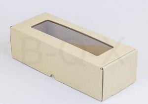 กล่องลูกฟูกพรีเมี่ยม มีหน้าต่าง 10x25x7 cm.